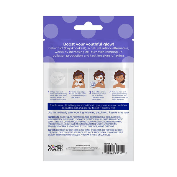 Miss Spa Bakuchiol Repairing Sheet Mask back image