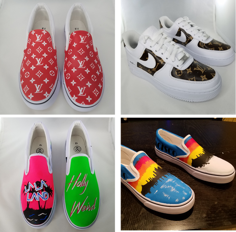 d737ec91 Stencils are how you can get perfect lines, patterns, logos, and images  onto your shoes. The great thing about stencils is that you can replicate  ...
