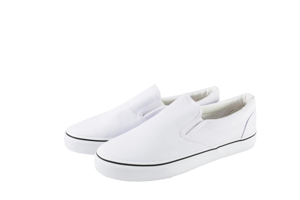 Just1 Shoes Brand - Kids White Canvas Slip-On Shoes