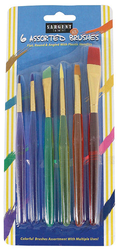 Children's Assorted Taklon Brush Set, 6 Count