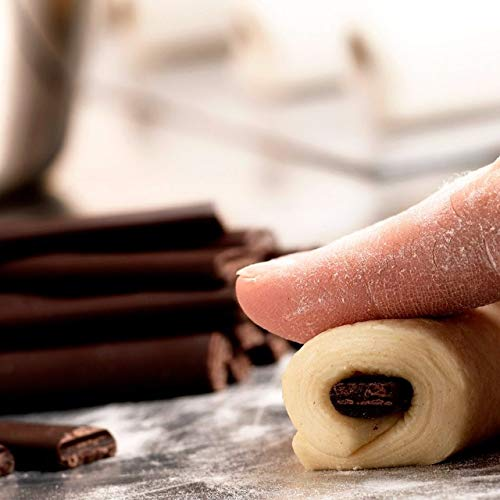 Cacao Barry Callebaut Dark Baking Extruded Sticks. Semi Sweet Chocolate Batons Boulangers for Croissants and Pain au Chocolat. 44% Cacao (3.5 Lbs, 1,6 kg) 300 pieces