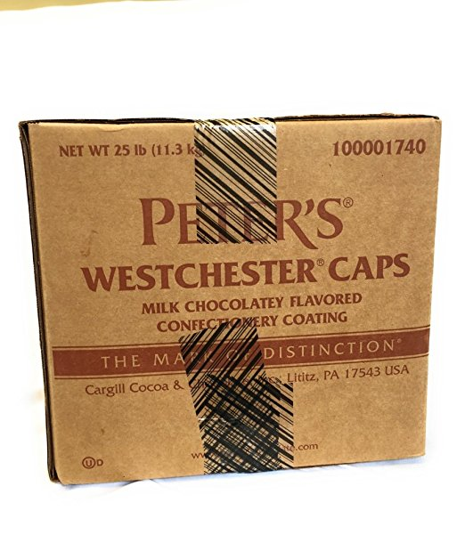 Peter's Westchester Caps Milk Chocolatey Flavored Confectionary Coating, 25Lb