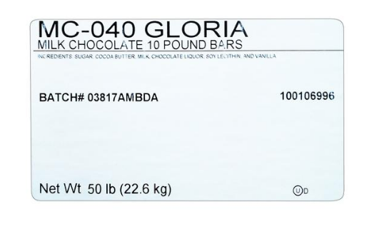 Merckens Gloria Milk Chocolate, 50Lb