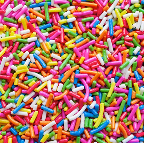 Rainbow Sprinkles, 25 lb Case,  Made in USA