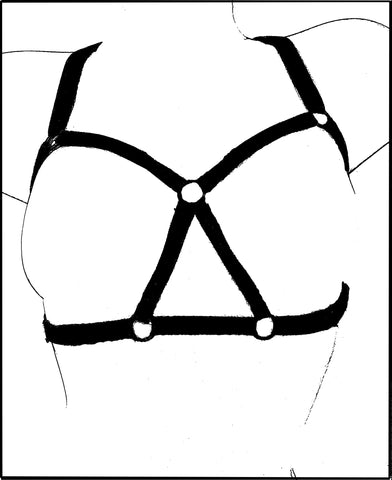 Criss-Cross cage bra