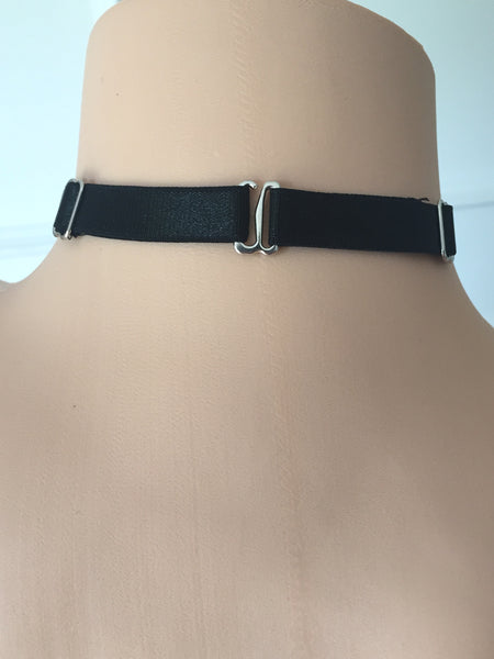Silver accent choker