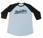 Grey/Black Made Men Unlimited Baseball Tee