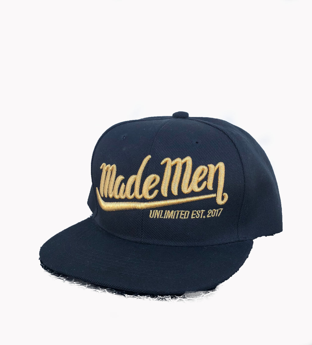 Made Men Unlimited Black & Gold Snapback hat