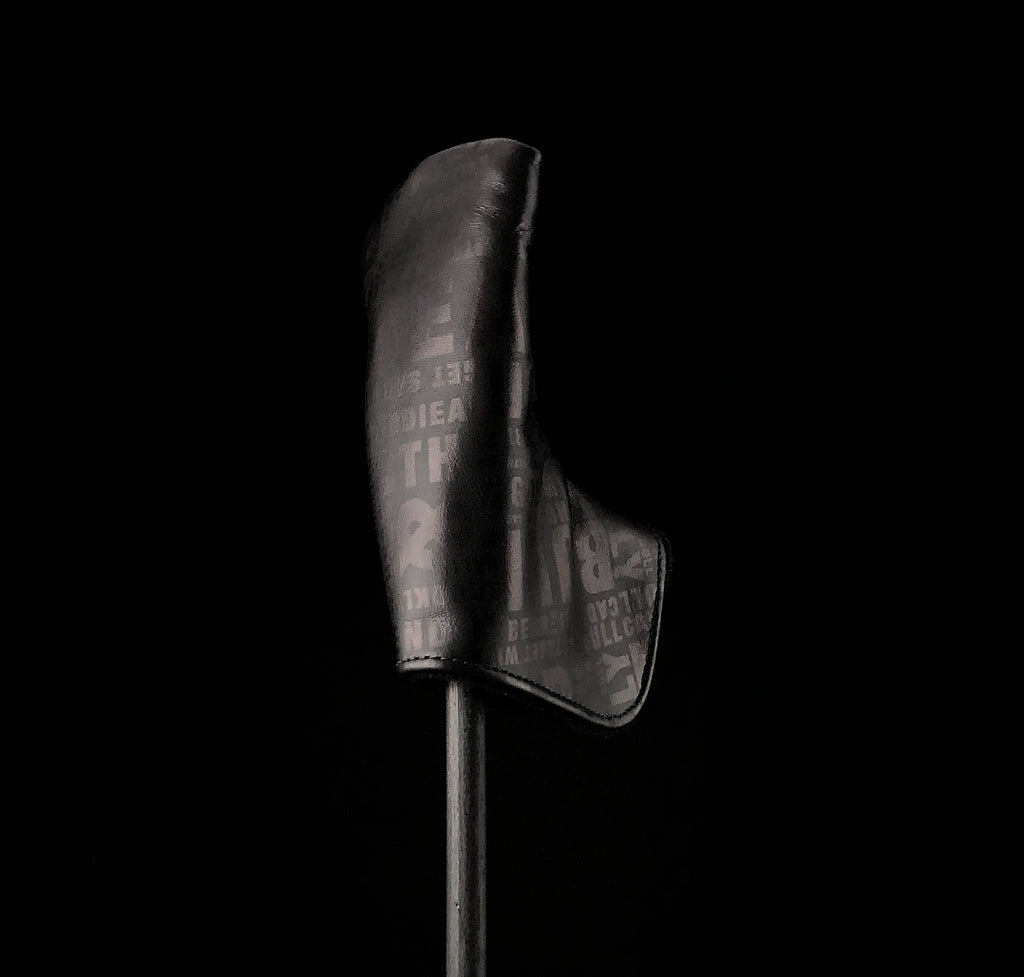 "Golf Digest #1 High-End Leather Maker ""Headlines"" Black Blade Putter (Knight Dark Design)"
