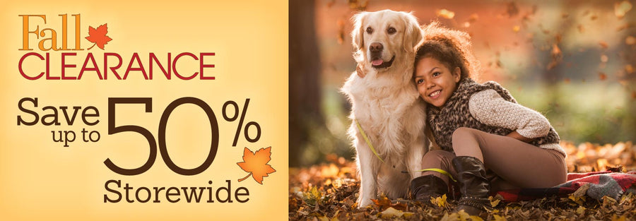 Fall Clearance - Save up to 50% Storewide Collection Phone Banner