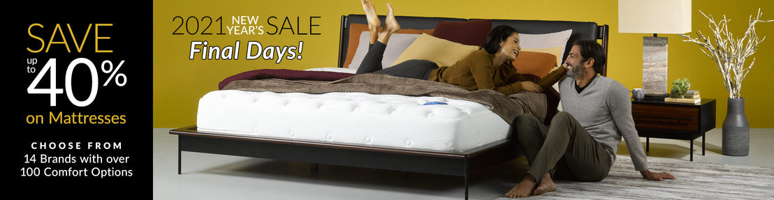 Save up to 40% on Mattresses Collection Desktop Banner