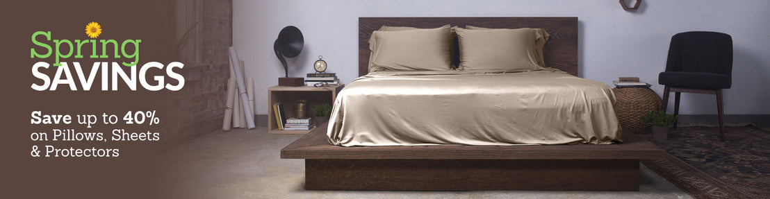 Save up to 40% on Pillows, Sheets & Protectors Collection Desktop Banner
