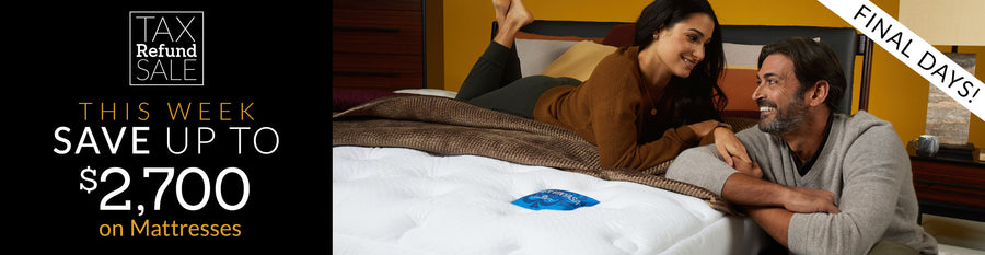 Save up to $2,700 on Mattresses Collection Tablet Banner