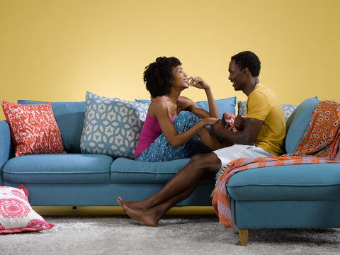 Couple on Sleeper Sofa