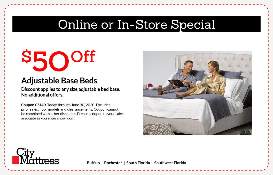 $50 Off Adjustable Base Beds