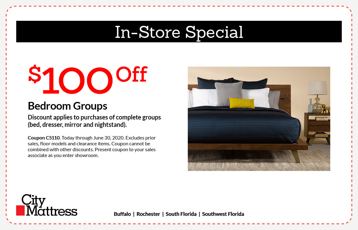 $100 Off Bedroom Groups