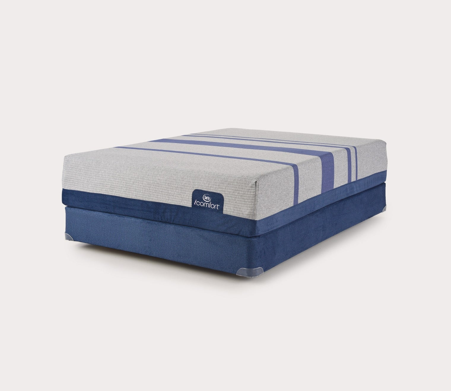 icomfort bed queen t pt pillow hybrid blue top item products plush fusion serta mattress