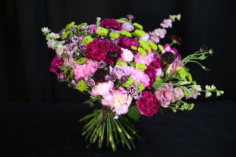 Flowers bouquet different shapes types