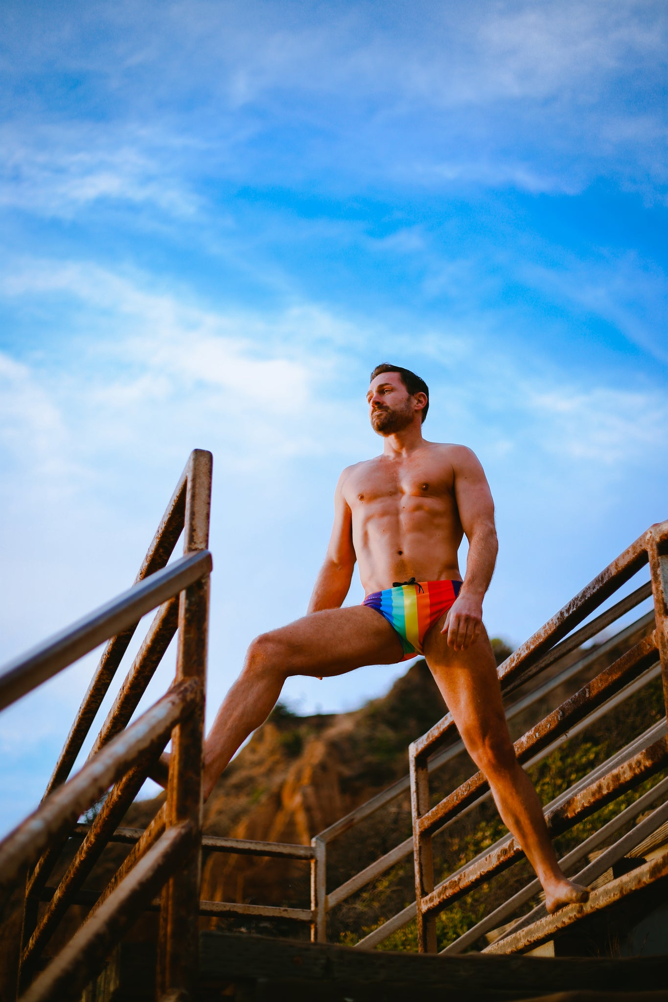 Rainbow Swimwear for Pride 2020 by Smithers Mens Swimwear