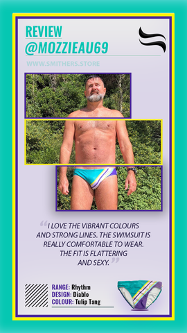 Another happy Smithers Swimwear customer - Mark Morrison