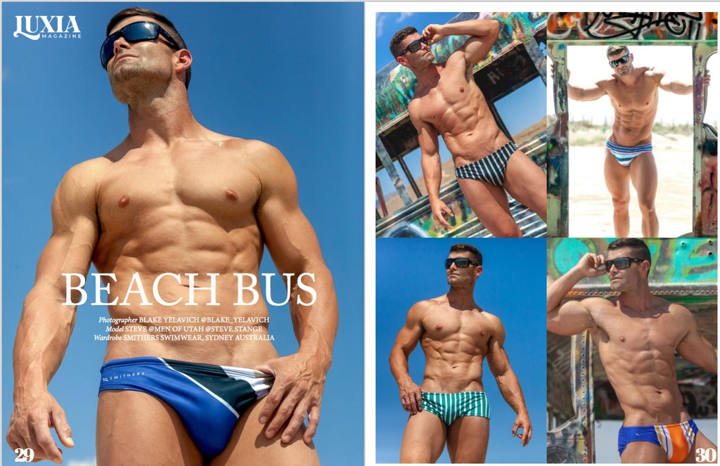 Smithers Swimwear styled by Men of Utah and photographed by Blake Yelavich for Luxia Magazine