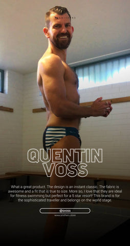 Positive customer review of Smithers Swimwear by Sydney swimmer Quentin Voss