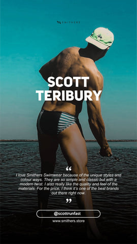 Smithers Swimwear is a favourite of Scott Teribury in the United States. Here why he loves Smithers swimsuits so much.