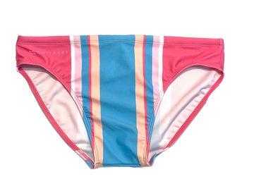 Smithers swimwear gets colourful with the pink and blue cotton candy classic briefs