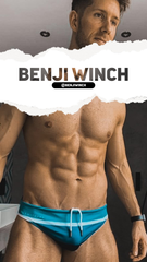 Benji Winch showing Smithers Swimwear