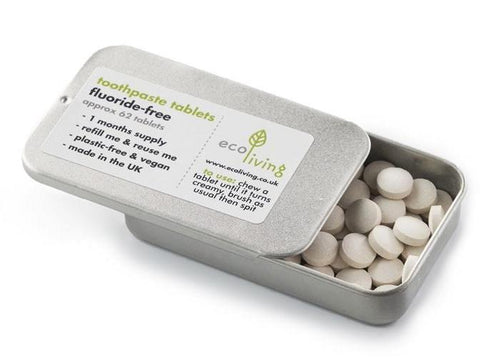 plastic free fluoride toothpaste tablets