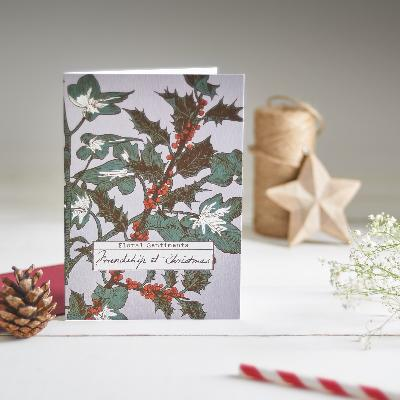 'Friendship at Christmas' Greeting Card | Seedlings