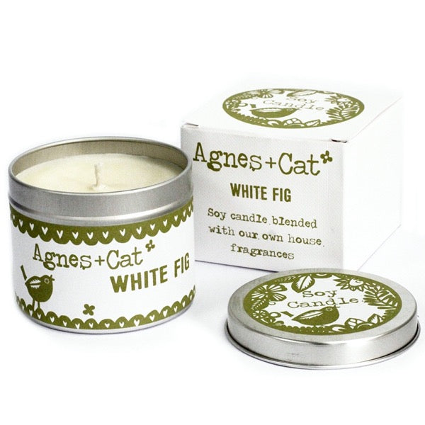 Natural soy candle Agnes + Cat white fig