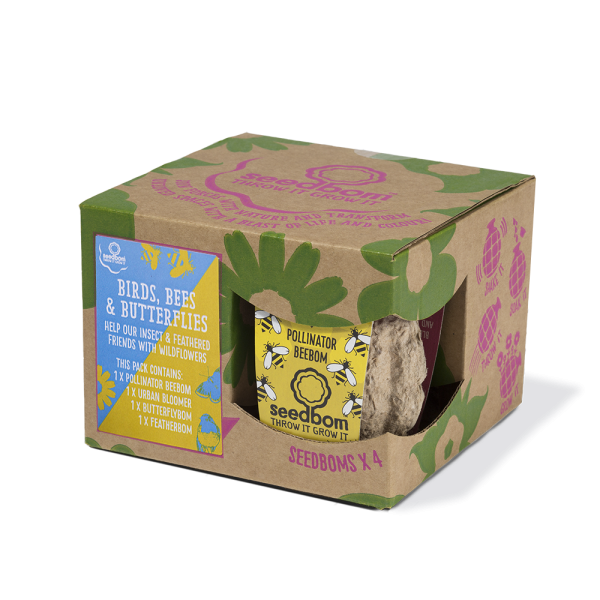 Kabloom Birds, Bees & Butterflies Seedbom Gift Box