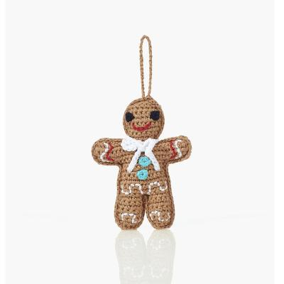 Fair Trade Cotton Christmas Decoration - Gingerbread