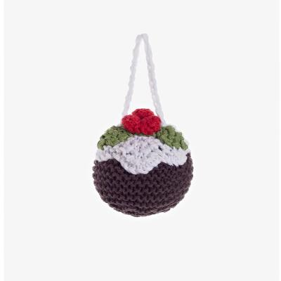 Fair Trade Cotton Christmas Decoration - Christmas Pudding