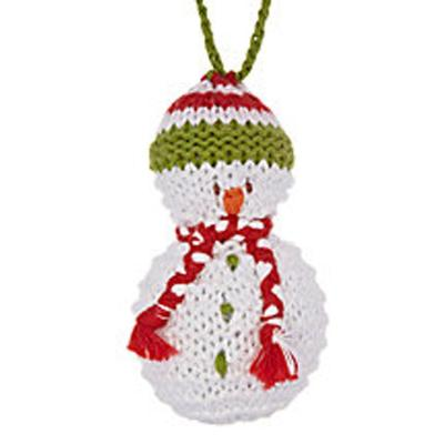 Fair Trade Cotton Christmas Decoration - Snowman