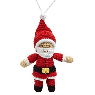 Fair Trade Cotton Christmas Decoration - Santa
