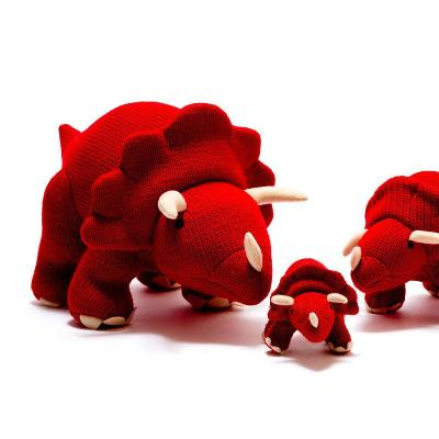 Large Knitted Triceratops Dinosaur Toy | Best Years