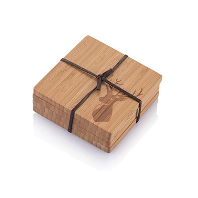 Bambu Coasters Stag Motif (Set of 4)