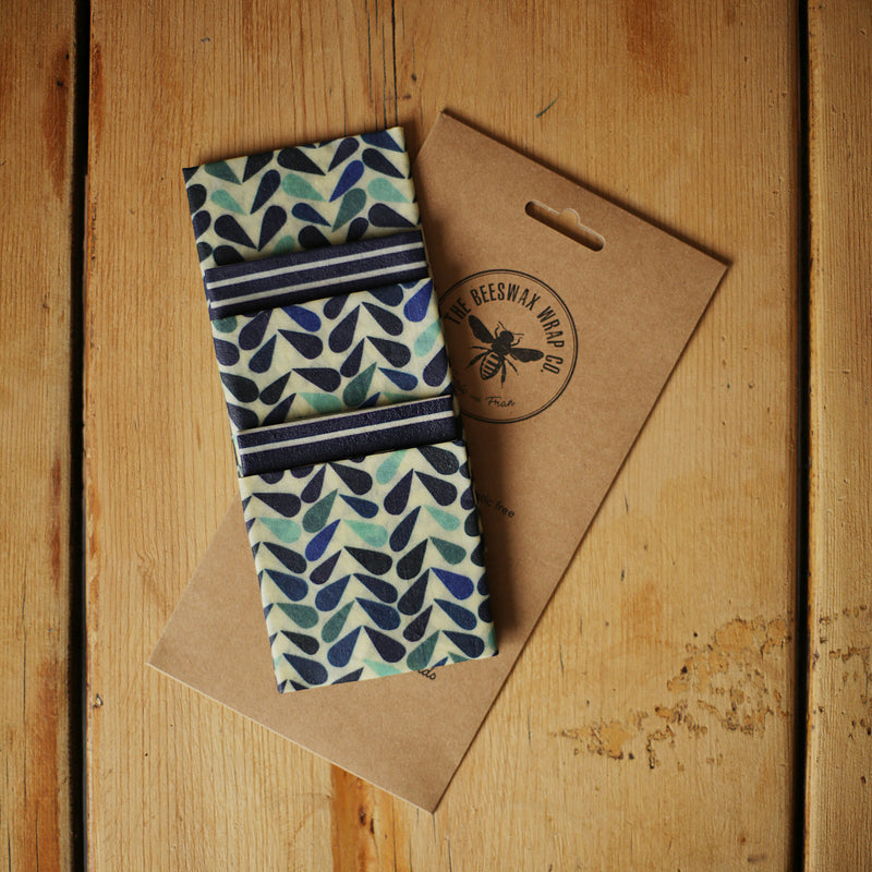 Beeswax Wraps food wraps large kitchen pack at The Eco Shop