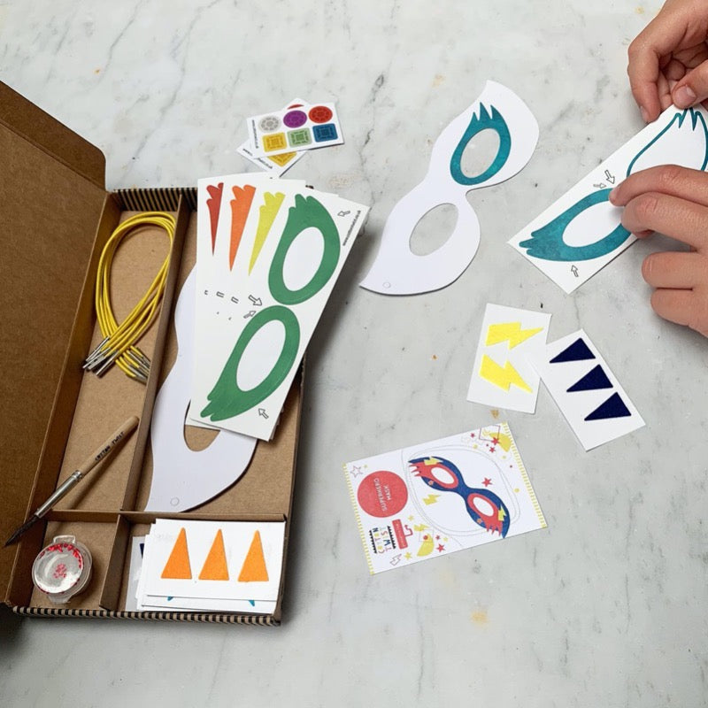 Superhero Masks Craft Kit Activity Box | Cotton Twist