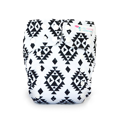 Reusable Cloth Nappy - Aztec Black | EcoNaps