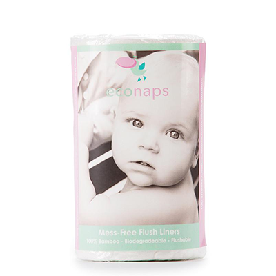 EcoNaps Biodegradable Bamboo Liners For Reusable Cloth Nappies