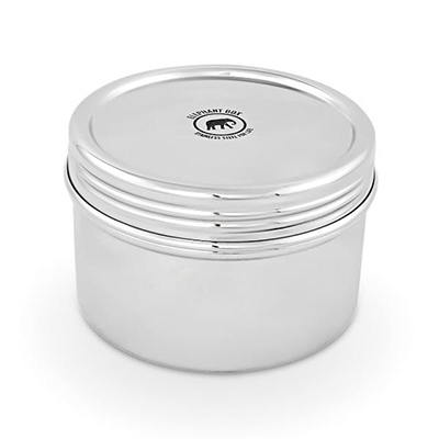 Large Reusable Stainless Steel Twist Canister | Elephant Box