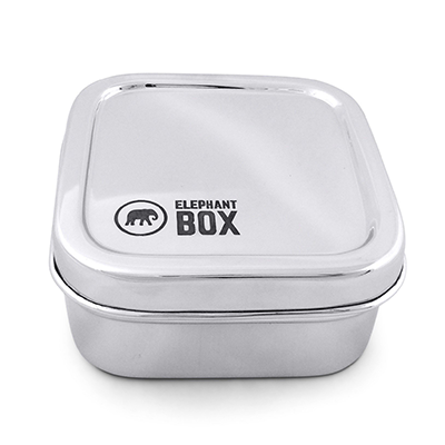 Reusable Stainless Steel Square Snack Pot | Elephant Box