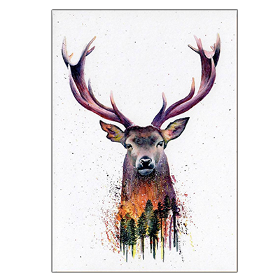 'Forest Fire' Greeting Card | Illustrate