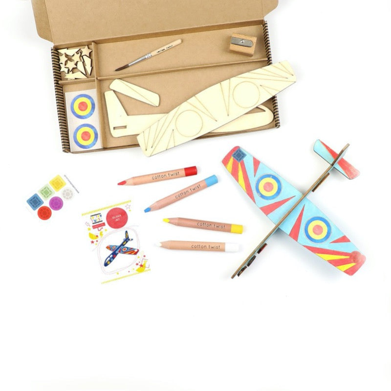 make your own glider craft box eco friendly gifts for kids cotton twist