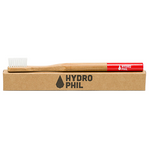 Adult Bamboo Toothbrush - Red (Medium) | Hydrophil