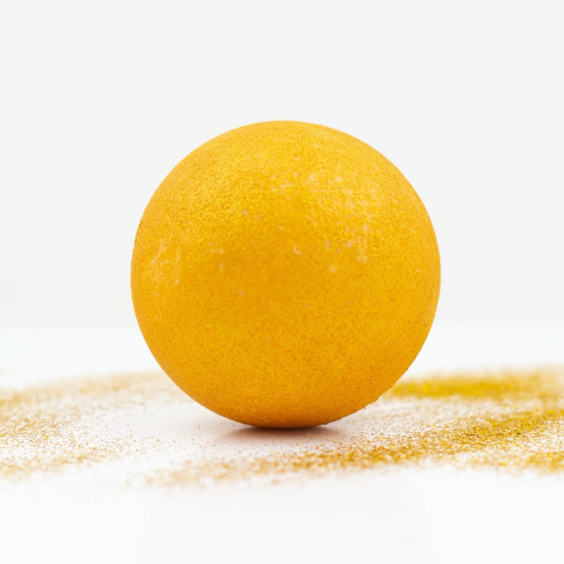 soul and soap gold rush xl bath bomb natural plastic free
