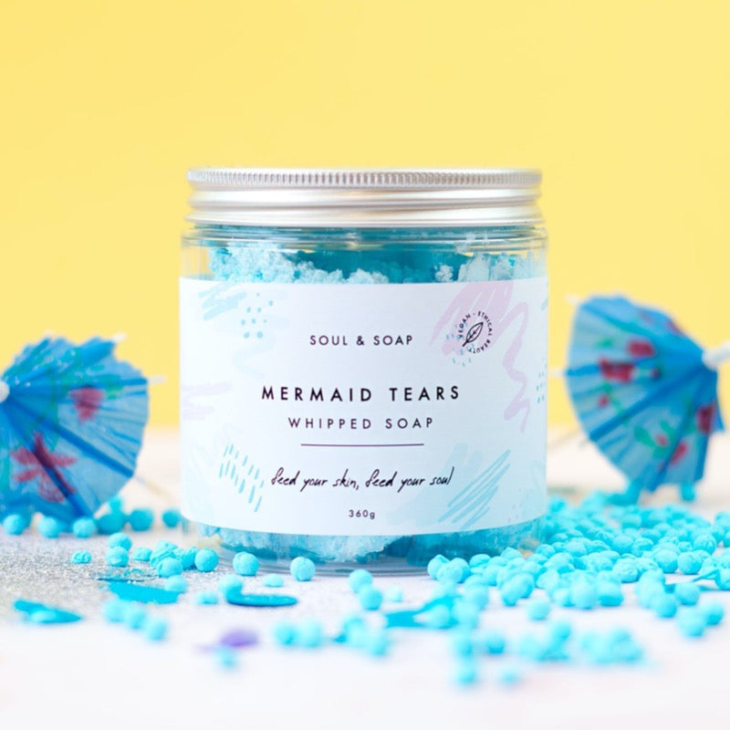 soul and soap mermaid tears whipped soap